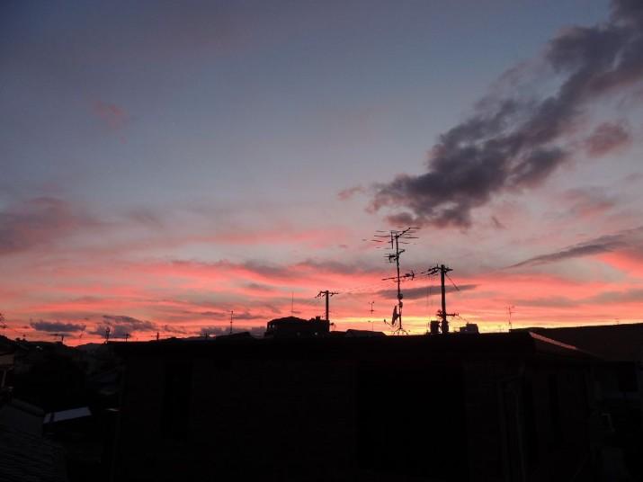 夕日の模様
