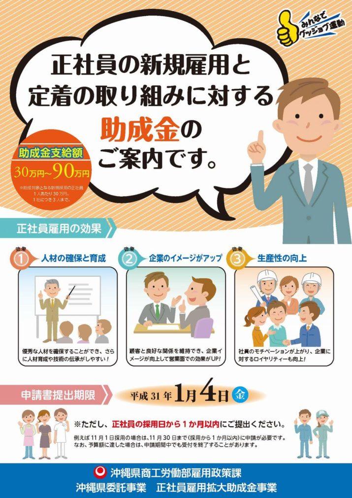沖縄!若手社員の採用で活用できる助成金